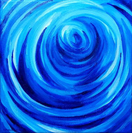 Deep Blue Swirl