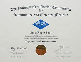 National Certification for Acupuncture and Oriental Medicine