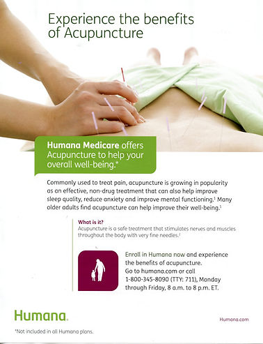 acupuncture, Humana Medicare offers acupuncture to help your overall well-being