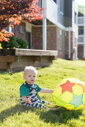 Heritage Apartments lawn baby