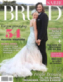 One of Wilhelmina's bridal gowns has  graced the cover of Sarie Bride Magazine.