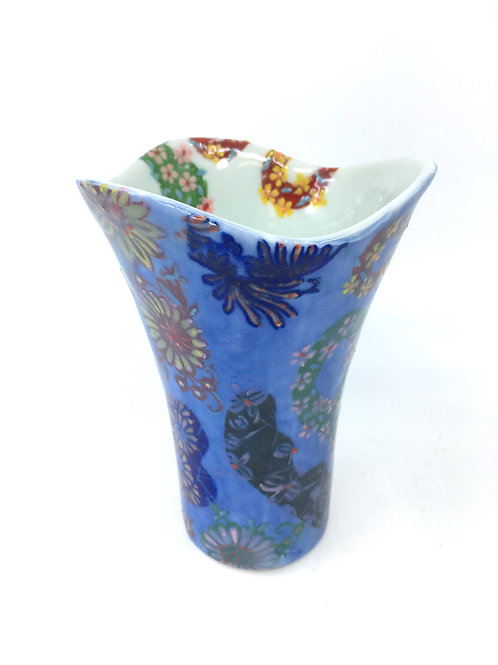 Hand Painted Floral Decal Vase or Tumbler
