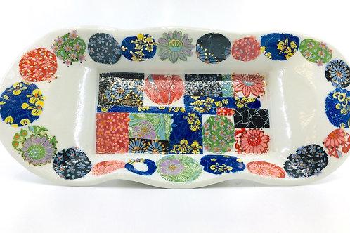 Altered Rectangular Porcelain Tray