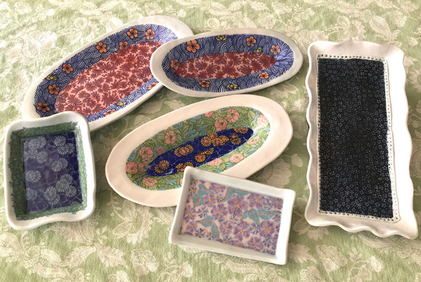 January Sale --15-20% off on selected hand crafted and painted trays, plates, serving dishes and pla