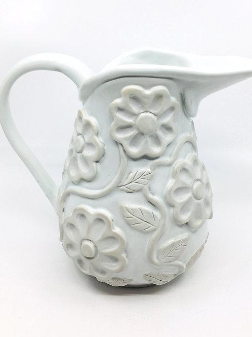 Porcelain Applique Pitcher