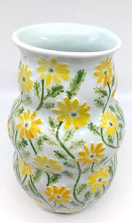 Rosenstein-- Daisy relief vase, March 20