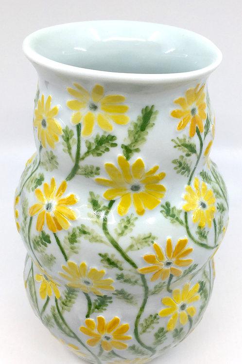 Daisy Relief Vase