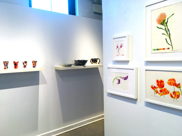 "Solo Exhibition ""Fanciful Flowers (On Clay)"" on display at Lillstreet Art Center, Chicago"
