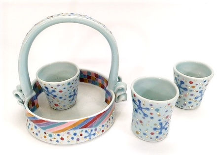 Rosenstein- Multi color patterned cup ba