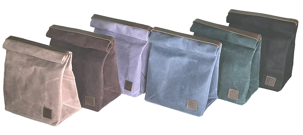 Waxed Canvas Lunch Bags by In The Bag