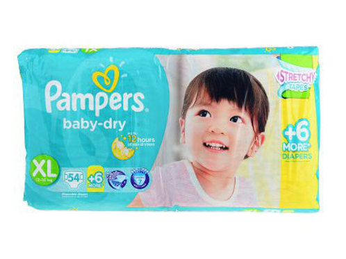 PAMPERS BABY DRY XL 60'S