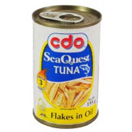 CDO SEA QUEST TUNA FLAKES IN OIL 155g