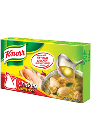 KNORR CHICKEN BROTH CUBES 120G 12 CUBES