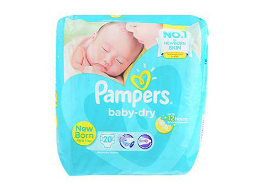 PAMPERS BABY DRY NEWBORN 20'S