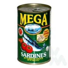 MEGA SARDINES IN TOMATO SAUCE 425G