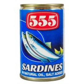 555 Sardines Natural Oil 155g
