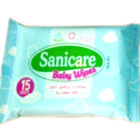 SANICARE BABY WIPES 15 SHEETS
