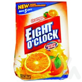 EIGHT O' CLOCK POWDERED JUICE ORANGE 125GR