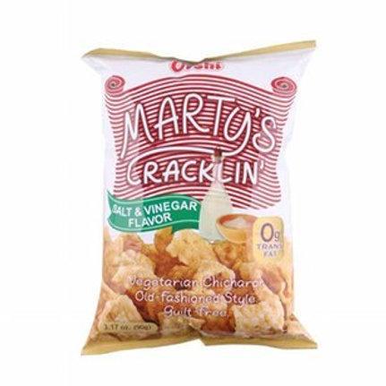 MARTY'S CRACKLING VEGETARIAN CHICHARON SALT & VINEGAR 90G