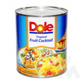 DOLE FRUIT COCKTAIL TROPICAL MORE CHERRIES 822G