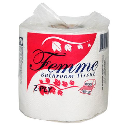 FEMME BATHROOM TISSUE 2 PLY - 4 ROLLS