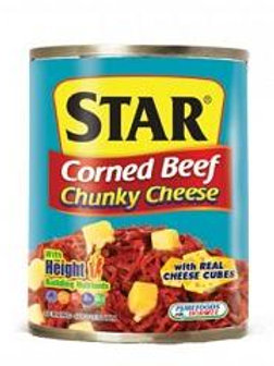Star Corned Beef Chunky Cheese 260g