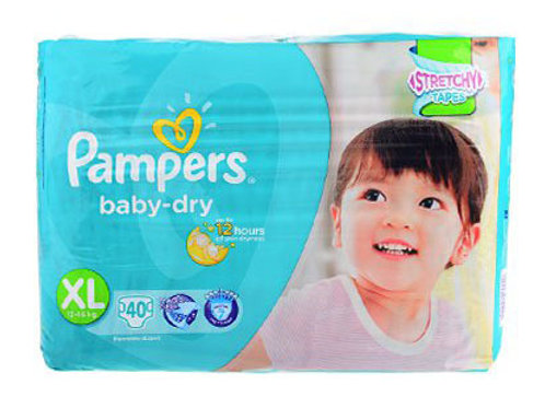 PAMPERS BABY DRY XL 40'S