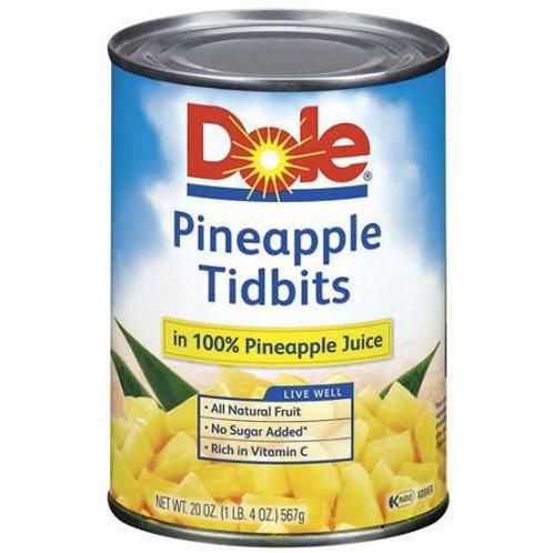 DOLE PINEAPPLE TIDBITS 567G