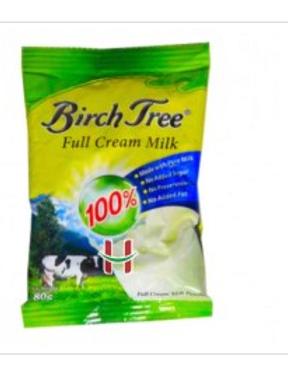 BirchTree Full Cream Milk 80g