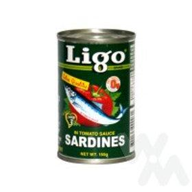 LIGO SARDINES IN TOMATO SAUCE 155G