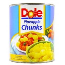 DOLE PINEAPPLE CHUNKS 822g