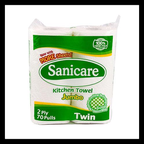 Sanicare Bathroom Tissue 2 Ply 4 rolls