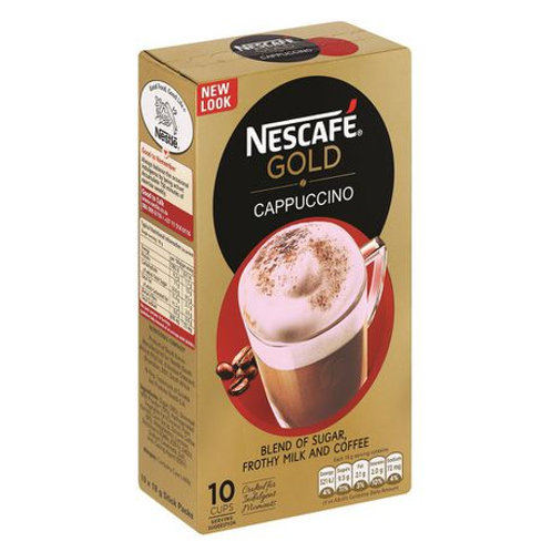 Nescafé Gold - Cappuccino - 10 x 18g Sachets Box