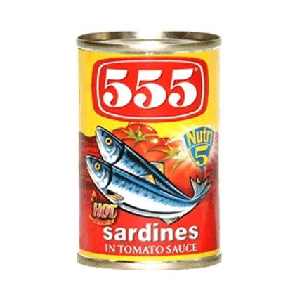 555 SARDINES HOT 155G