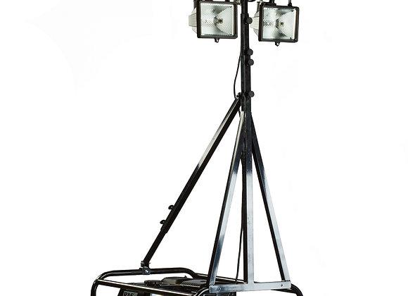 Телескопическая мачта освещения с галогенными прожекторами