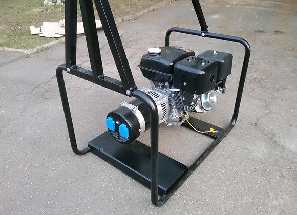 Телескопическая мачта освещения 5м с бензогенератором