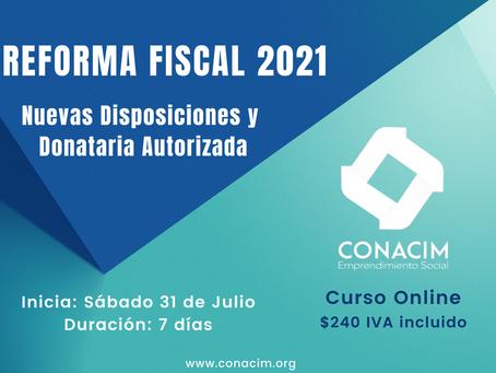 Curso Online: Reforma Fiscal 2021, nuevas disposiciones y donataria autorizada