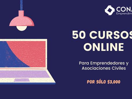 Inscríbete a 50 cursos online por solo $3,000