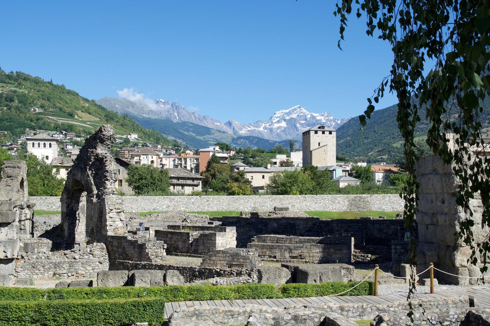 Romeinse ruines aosta