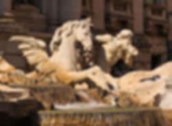 Detail van de Trevifontein in Rome