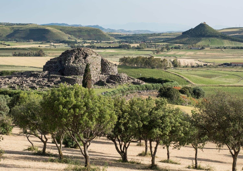 De bekende Su Nuraxi op Sardinië