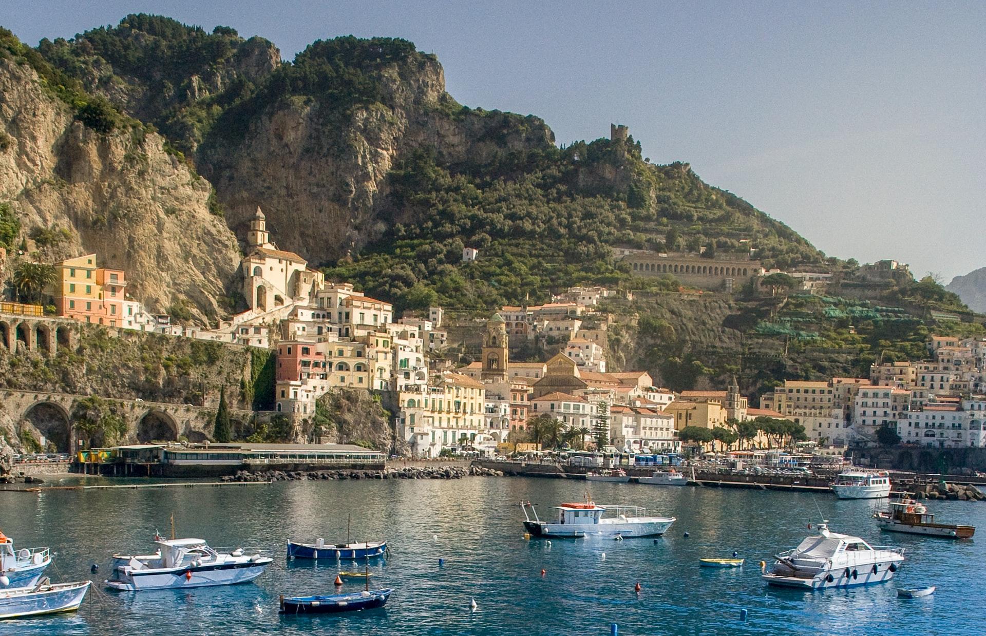 Amalfi vanaf zee