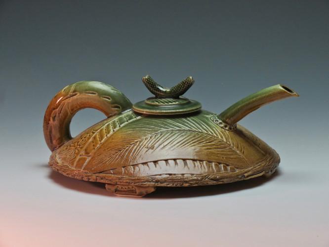 Green and Iron Squat Teapot