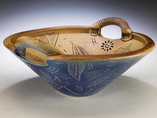 Blue Handled Bowl