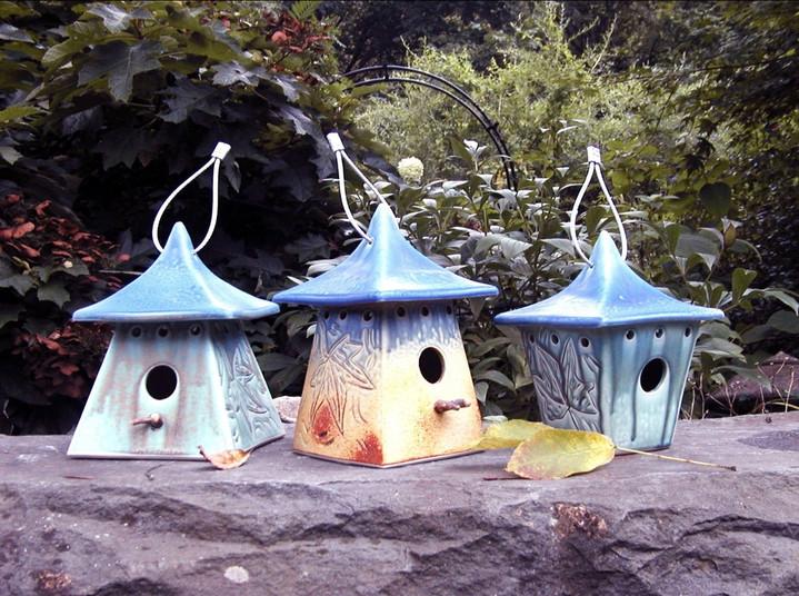 Three Bird Houses