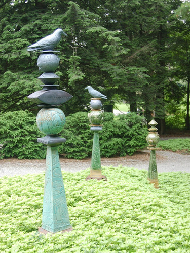 Raven Totems at Chesterwood