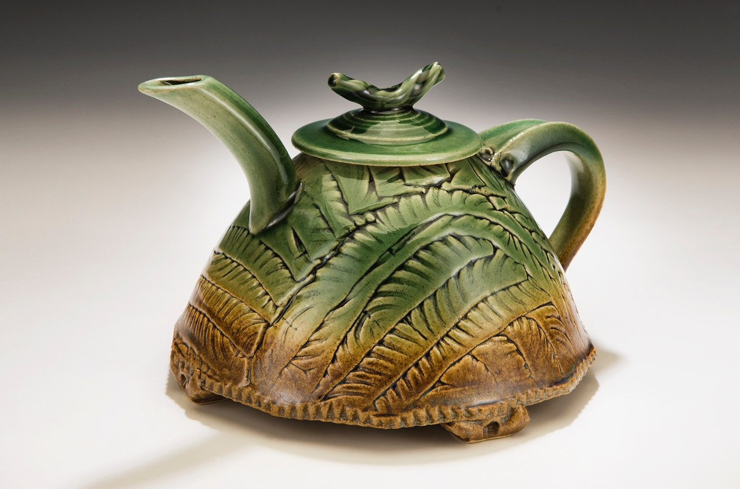 Green and Iron Teapot