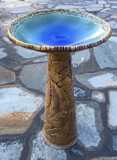 Blue Birdbath