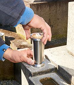 花立,香炉,取り替え,補修