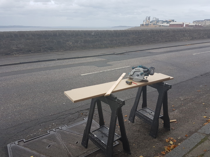 Sawing timber with a view!